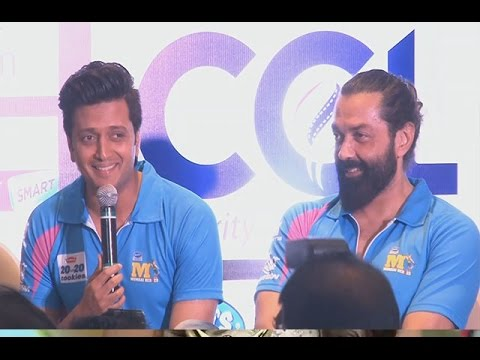 Hilarious! Riteish Deshmukh's Interview At CCL LAUNCH   Exclusive Video