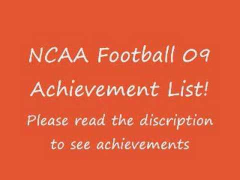 NCAA Football 09 Achievement list
