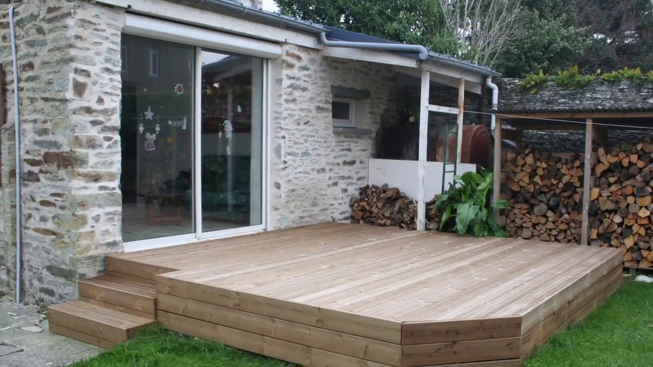 Pose Terrasse En Bois Sur Plots Youtube - Pose Terrasse Sur Plot