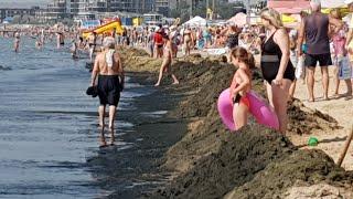 АНАПА УТОПАЕТ УЖАС реалии песчасного пляжа погода 28 ИЮНЯ 2018 поиски чистой воды