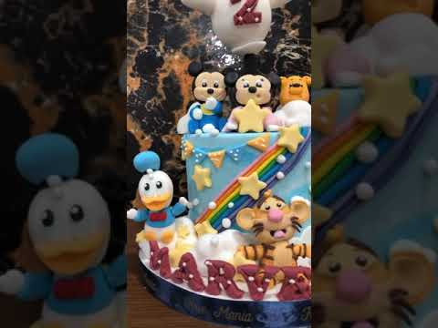 Baby Disney Cute Cake ( Mickey Mouse, Minnie Mouse, Winnie The Pooh, Donald Duck Tiger)