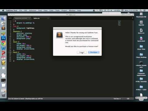 Responsive Column Layout - HTML / CSS
