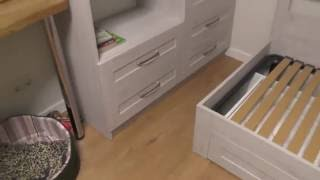Мебель в детскую с ДСП Cleaf. Детская кровать. Кровать двухъярусная в детскую комнату. Киев.