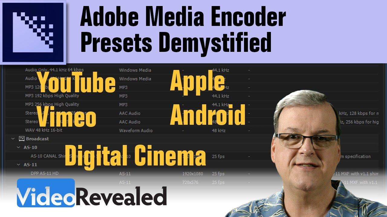 Adobe Media Encoder Presets Demystified