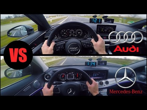 2017 Audi A4 vs Mercedes E350 (0-250km/h) POV- Acceleration, Top Speed TEST✔