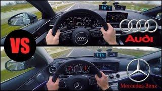 2017 Audi A4 Vs Mercedes E350 0 250km H Pov Acceleration Top Speed Test