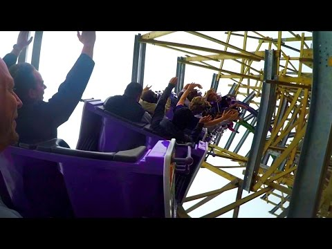 The Joker back seat on-ride HD POV Six Flags Discovery Kingdom