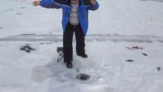 Зимняя рыбалка в Бурятии, Гусиное озеро 27 02 2015 2