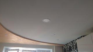 Какие мы можем установить матовые двухуровневые натяжные потолки в кухне, компания «Строй Сервис»