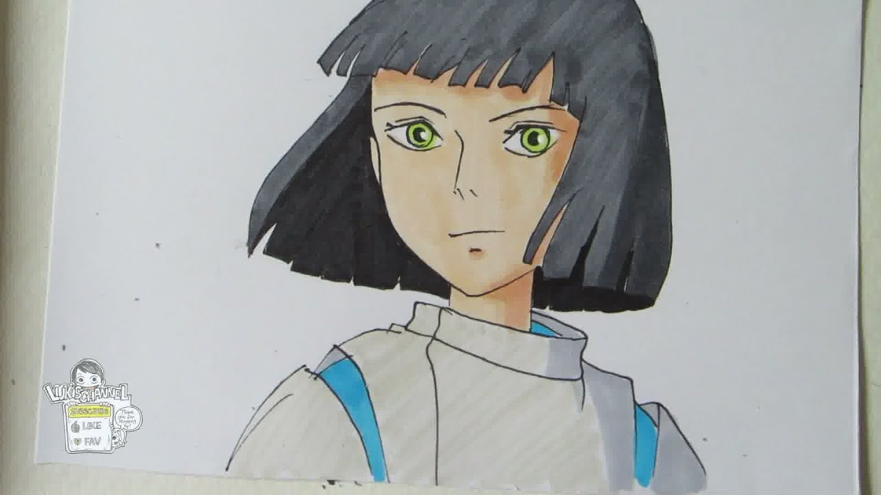 How To Draw Haku From Spirited Away Youtube