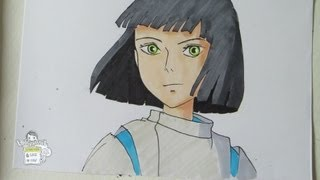 How to draw Haku from Spirited Away
