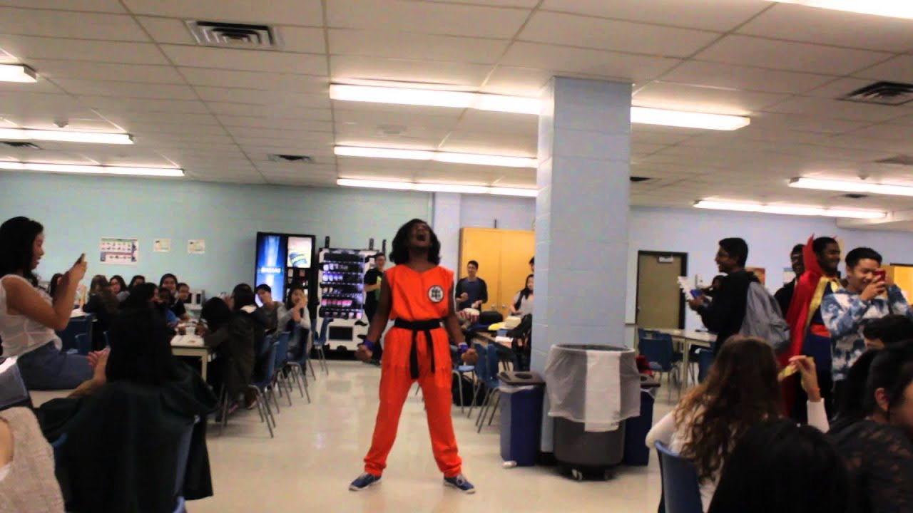 kid goes super saiyan in high school cafeteria youtube