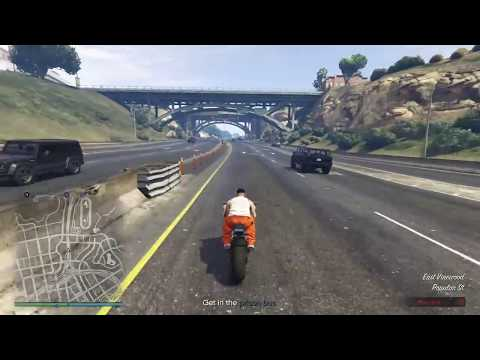 (GTA5 Online) - Prison Break Elite Challenge  World Record Run 3:47 extraction time [GTA V - PS4]