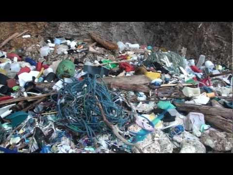 Australia's Most Polluted Beach.Greta Beach on Christmas Island in  the Indian Ocean