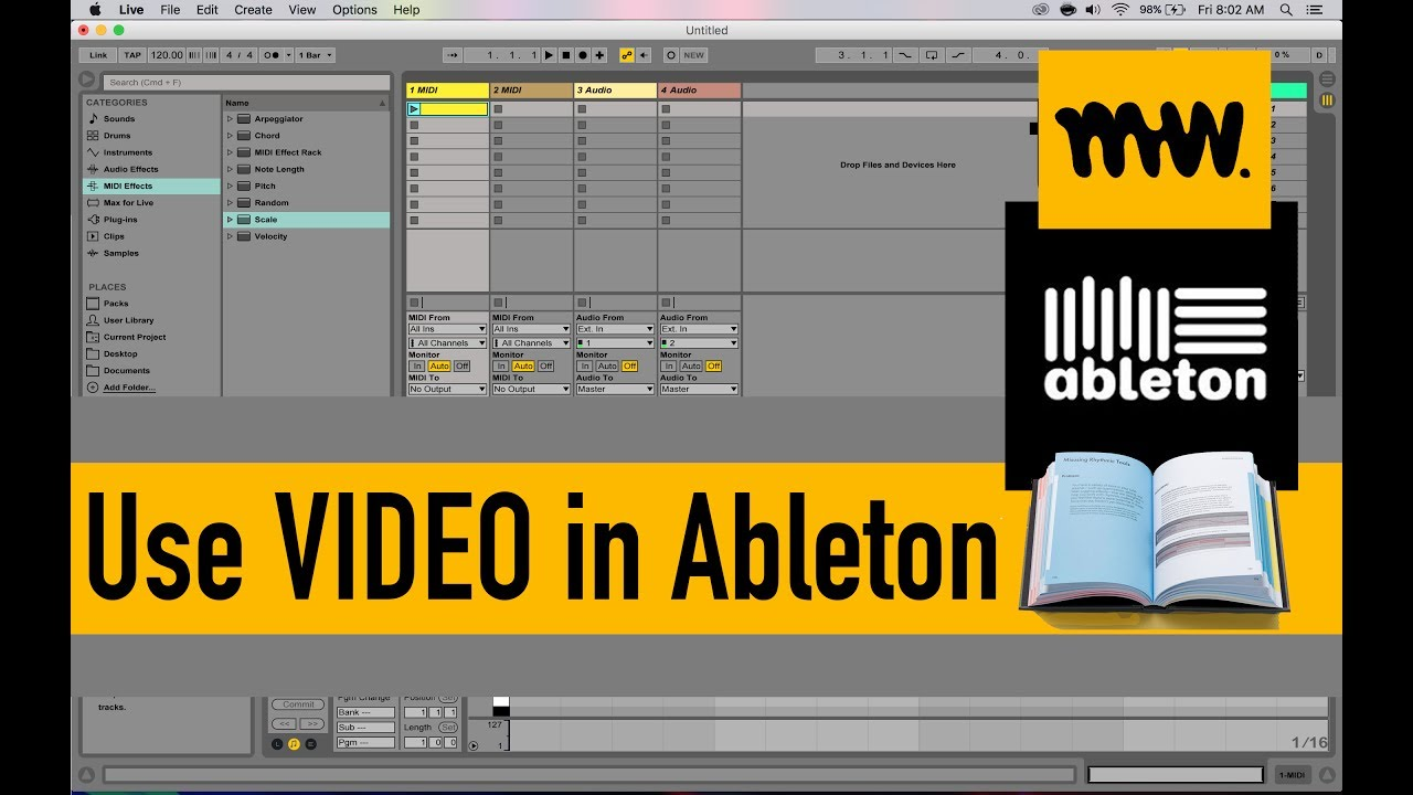 using video in ableton ableton live manual 34 youtube rh youtube com ableton live lite 8 manual pdf ableton live lite support