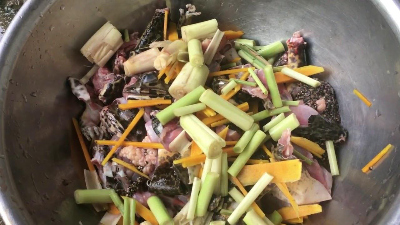 Làm món ếch đồng xào lăn ( Fried Frog )