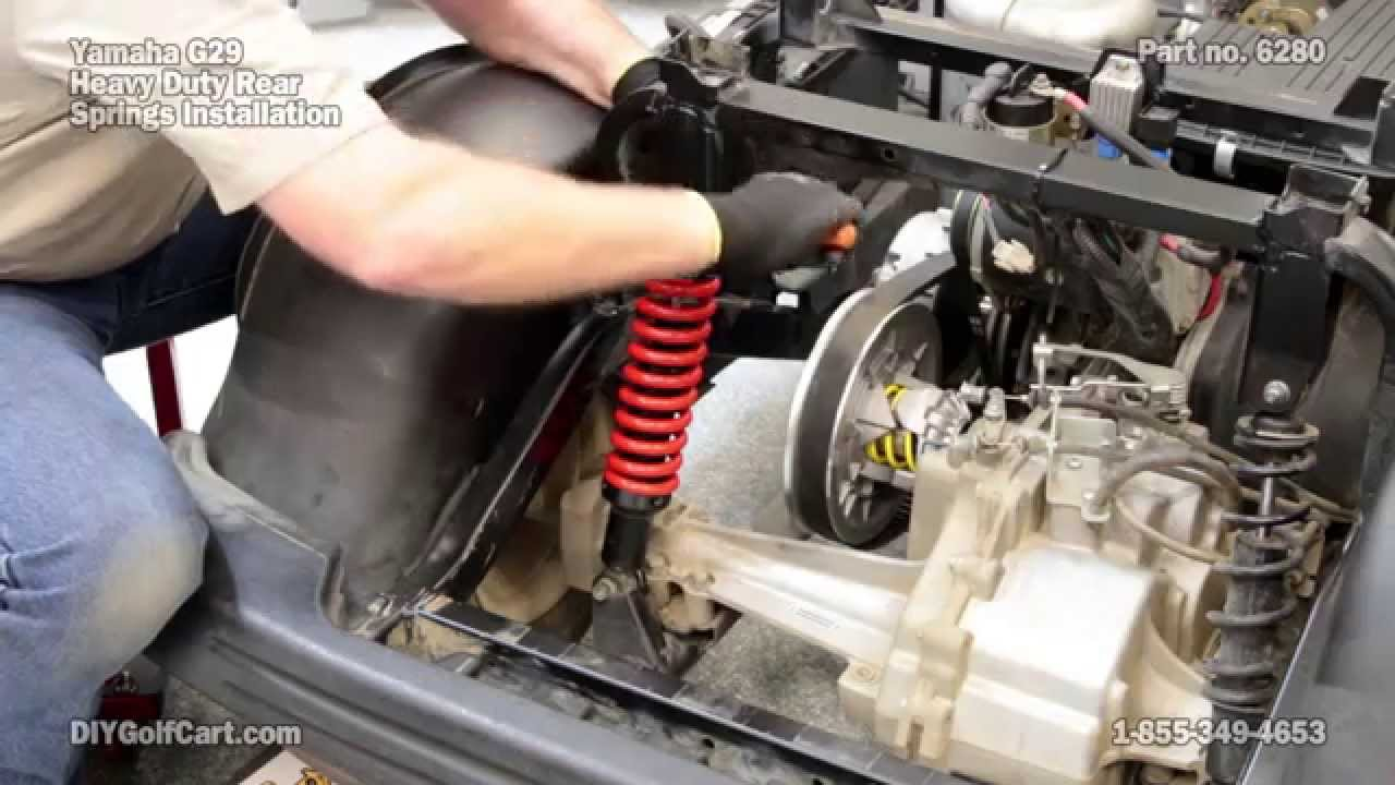 Yamaha G29 Drive Rear Heavy Duty Springs How To Install