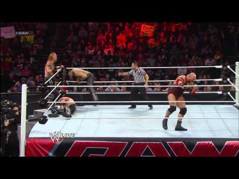 Ryback vs. 3MB - 3-on-1 Handicap Match: Raw, March 25, 2013