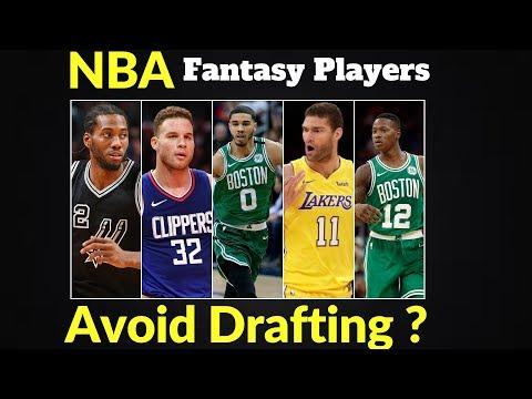 NBA Fantasy Players To Avoid 2018-2019 ?