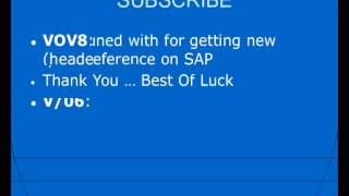 SAP SD Transaction Codes - Sales and Distribution Module Tcodes