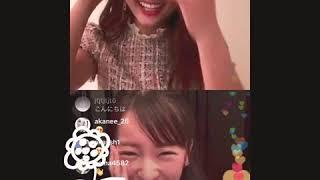 板野友美と谷まりあ   インスタライブ   仲良し   すっぴん   おうち時間.