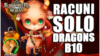 SUMMONES WAR : Racuni SOLO DragonsB10!!!!