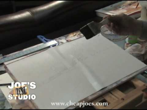 stretching paper tutorial cheap joe s watercolor