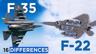 Here's 16 Differences Between: F-22 Raptor with F-35 Lightning II