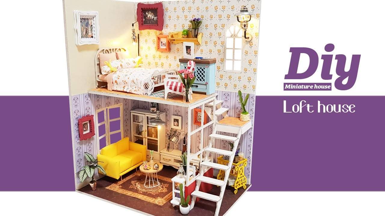DIY Miniature Dollhouse Kitㅣloft houseㅣ다락방ㅣ미니어처하우스ㅣ박소소(soso miniature)