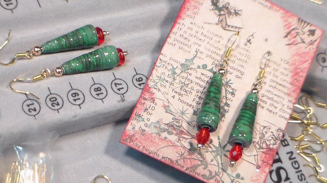 Make Christmas Tree Earrings