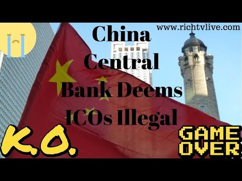 China Central Bank Deems ICOs Illegal