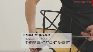 Priority Bicycles Basket Installation