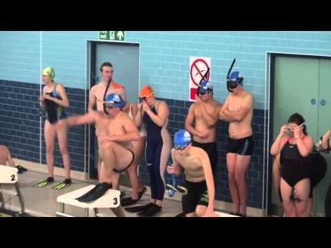 5/12/15 British National Finswimming- 4x50 bi fin relay