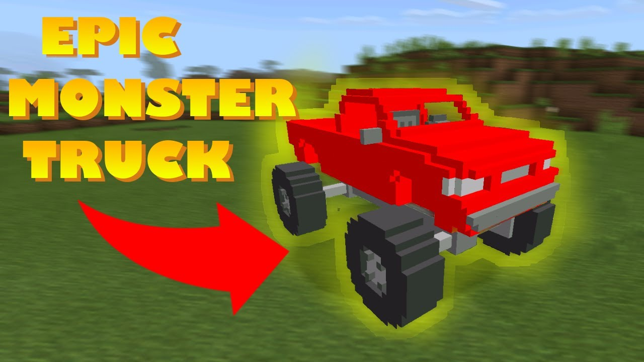 how to spawn monster truck in minecraft pocket edition. Black Bedroom Furniture Sets. Home Design Ideas