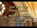 New York State Senate Session - 4/17/18
