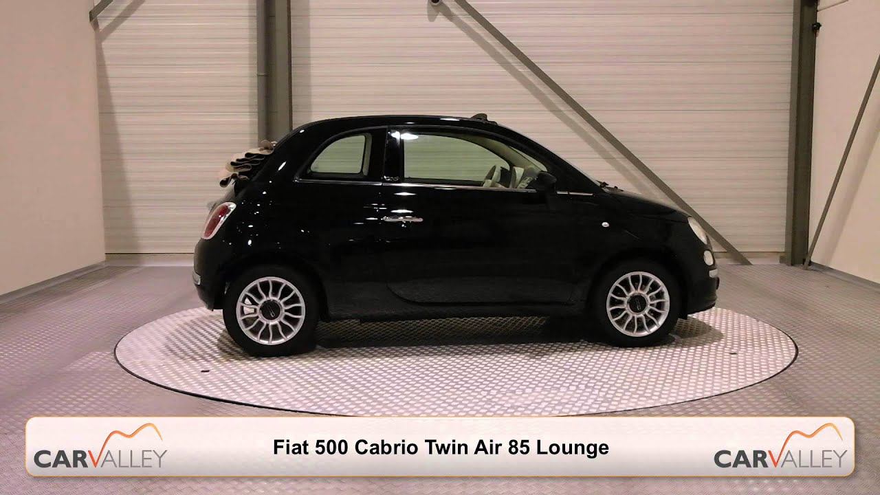 nieuwe fiat 500 cabrio twin air 85 lounge zwart beige dak online kopen youtube. Black Bedroom Furniture Sets. Home Design Ideas
