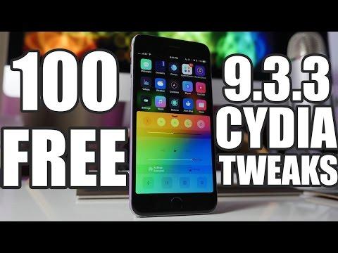 Top 100 BEST FREE iOS 9.3.3 Cydia Tweaks!