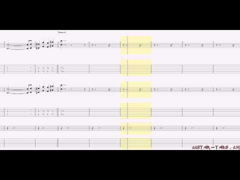 Avenged Sevenfold Tabs - Second Heartbeat (rhythm)