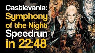Castlevania: Symphony of the Night Alucard Any% NSC Speedrun in 22:48
