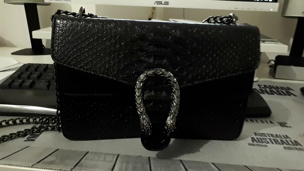 f95c72ec6 FAKE BAG REPLICA GUCCI DIONYSUS BLACK LEATHER VERY GOOD QUALITY ...