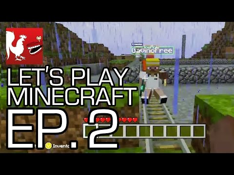Let's Play Minecraft - Episode 2 - On a Rail! | Rooster Teeth
