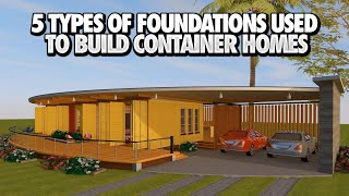 shipping Container House Foundation Ideas