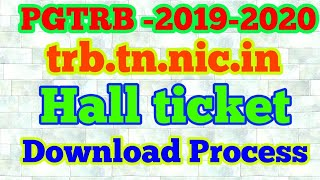 PGTRB Hall ticket download 2019 | How to download trb admit card 2019 ||