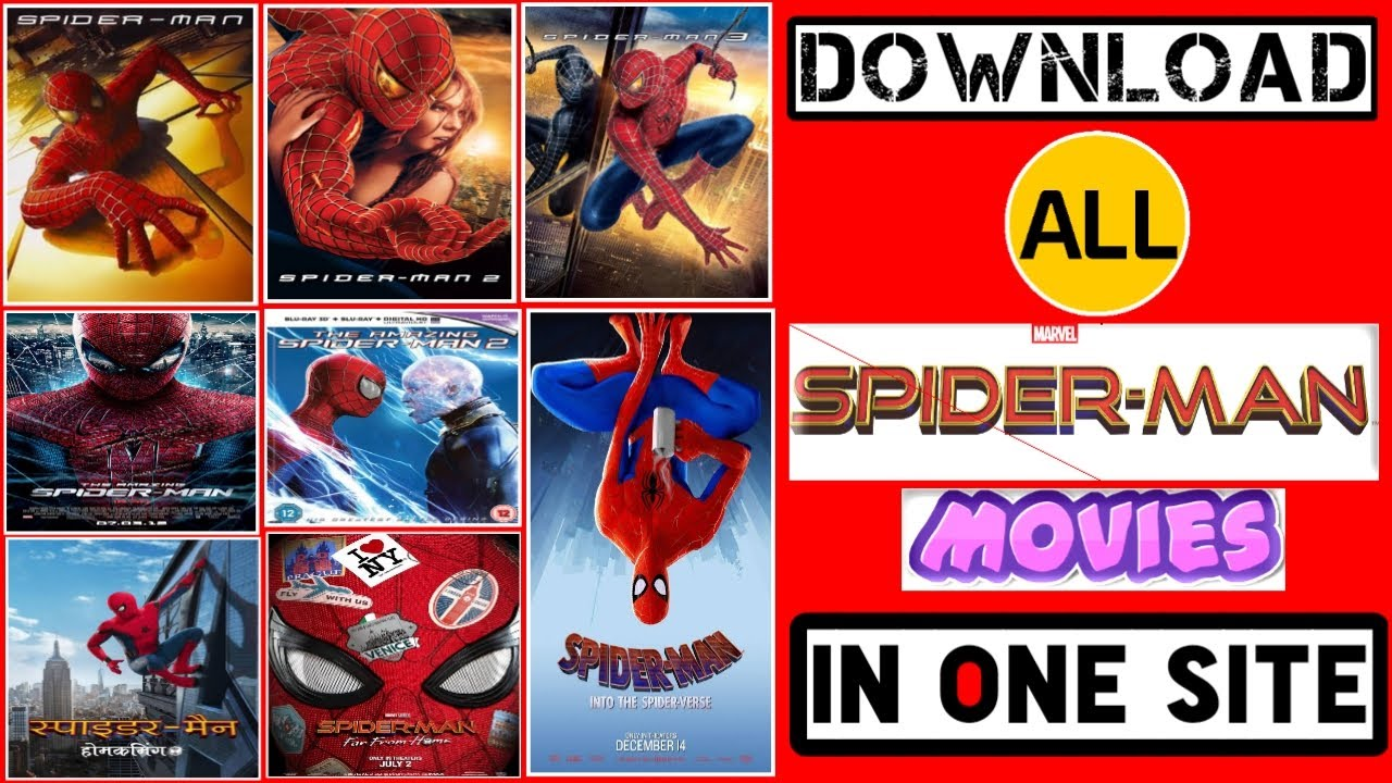 Download Download All Spiderman Movies in One Website   How to download Spiderman Far From Home