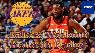 Lakers To Workout Kenneth Faried With One Roster Spot Open   Kenneth Faried Lakers 2021