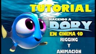 Tutorial Cinema 4d Rigging y animacion de Dory (Modo Manual y Automático)