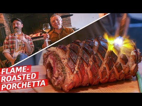 What Does A Fireplace-Roasted Porchetta Taste Like? — Prime Time