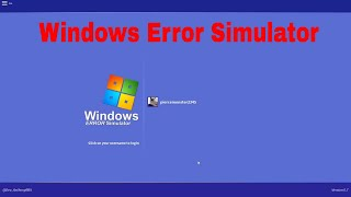 Roblox Windows Error Simulator Revisión!