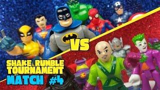 Superheroes (Avengers & Justice League) vs Supervillains Toys Shake Rumble Tourney Match #4