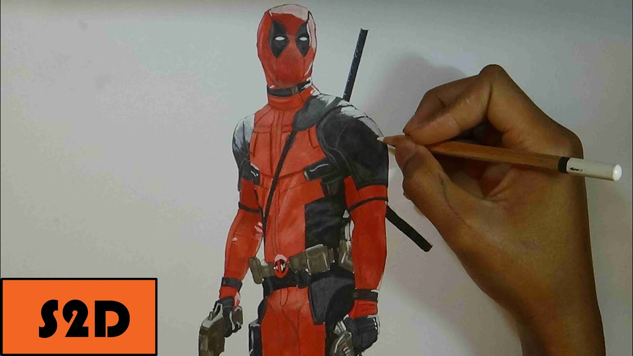 How To Draw Deadpool Movie Reference Narrated